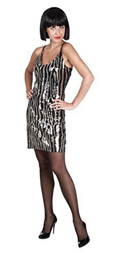 Pailletten Zebra-kleid (Boland 87157 Erwachsenenkleid Dazzle mit Pailletten, M)