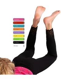 Kinder Legging lang mit Spitze