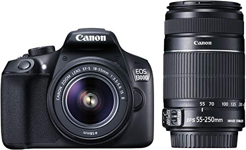 Canon EOS 1300D 18MP Digital SLR Camera (Black) with 18-55...