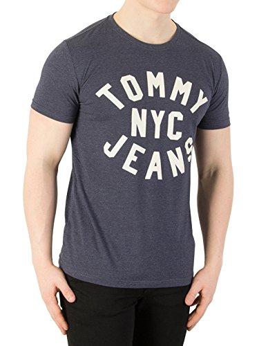 Tommy Jeans Herren Wesentliche Grafik T-Shirt, Schwarz, X-Small (Schwarz Grafik)