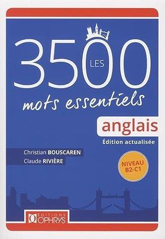 Ophrys Anglais - Anglais: les 3500 mots essentiels - Niveau