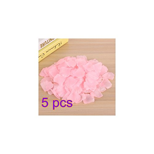 Rosenblätter 5000Pcs culticolor Künstliche Blütenblätter für Hochzeit Party Dekoration, hellrosa, 5x5cm