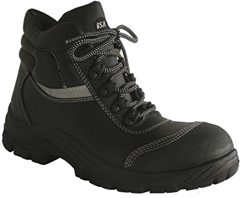 GSA 1024966012 par de zapatillas altas Bull Light Plus S3 SRC, negro, 46