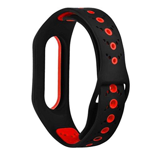 CICIYONER Silikon-Sport-Bügel für Xiaomi Mi Band 2 Mode lüften Armband-Ersatz-Band CICIYONER