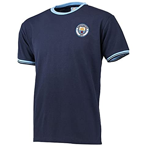 Manchester City Mens Gents Football Soccer Classic Pique T Shirt