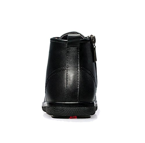 WZGMänner Herbst und Winter große Yards Hand-in-Rohr High-Top-Martin-Stiefel Stiefel schnüren männliche Stiefel hohe Schuhe Black