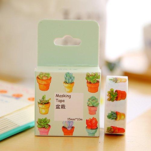 WRITIME 15mm x 7m Japanisches Washi Tape dekorative Tape Dekorative Bänder Scrapbook Papier Abkleben Sticker Set Fotoalbum Washi Band, G