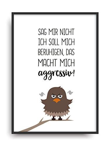 Fine Art Kunstdruck SAG MIR NICHT Poster Print Plakat moderne Vintage Deko Bild DIN A4 Geschenk -