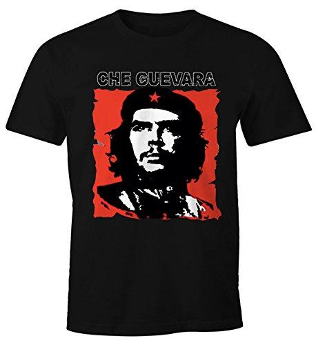 MoonWorks Herren T-Shirt Che Kuba Guevara Revolution Fun-Shirt schwarz XL -