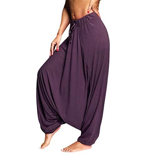 WWricotta Women Plus Size Solid Color Casual Loose Harem Pants Yoga Pants Women Trousers