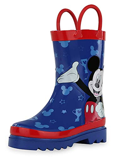 Disney Mickey Mouse Blue and Red Rain Boots (Toddler/Little Kid)