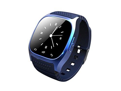 seree BT06portatile Smart Watch media Control chiamate a mani libere Pedometer a basso costo per Android/iOS, anti perso (blu)