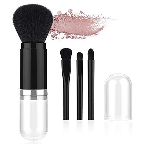 ea0d7adcc92 Luxspire Retractable Makeup Brushes, Professional Single Handle Kabuki  Brush Soft Face Mineral Powder Foundation Eyeshadow