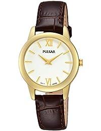 Pulsar Damen-Armbanduhr XS Quarz Analog Quarz Leder PRW020X1