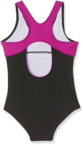Slazenger Badeanzug für Mädchen, mit klassischen X-Ausschnitt am Rücken, langlebigen Materialien! Der ideale Schwimmanzug fürs Schwimmbad, den See oder das Meer. Passend ab 7-8 Jahre , 9-10 Jahre , 11 Black/Purple(2)