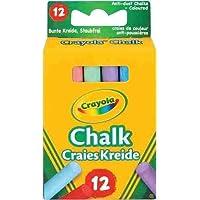 PACK OF 3 - Crayola - Anti Dust Coloured Chalk (36 Chalks)