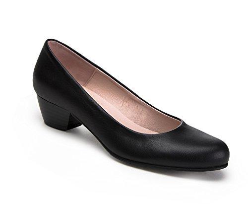 zeddea-servicio-nero-scarpe-comode-da-hostess-di-volo-taglia-38