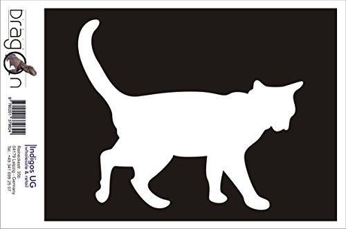 INDIGOS UG Aufkleber Autoaufkleber - JDM Die Cut Auto OEM - Katze 130x110mm weiß - Auto Laptop Tuning Sticker Heckscheibe LKW Boot (Katze-laptop-aufkleber Weiße)
