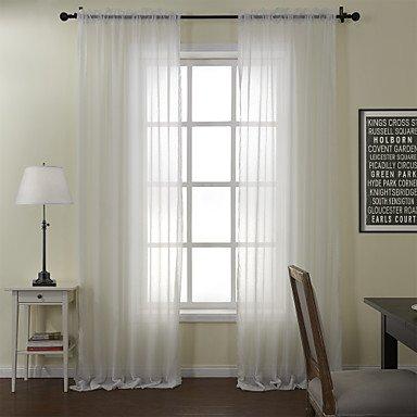 Aemember Stange Pocket Tülle obere Lasche oben Doppel zwei Panels Vorhang, massiv Esszimmer Polyester/Baumwolle Mischung Poly/Baumwolle Mischung, Rod Pocket, 2* (50W × 84