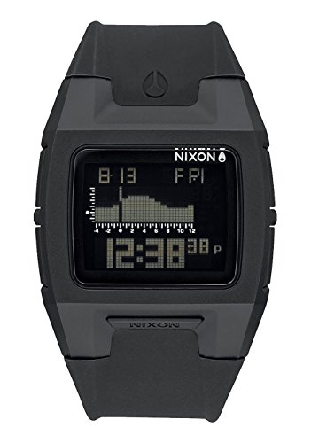 nixon-unisex-lodown-silicone-surf-watch-black