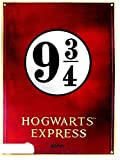 Placa metal Harry Potter. Plataforma 9 3/4