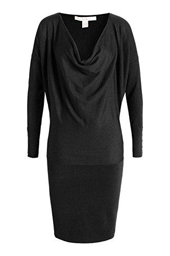 ESPRIT Damen Kleid 115ee1i033 - mit Weichem Griff Schwarz (Black 001)