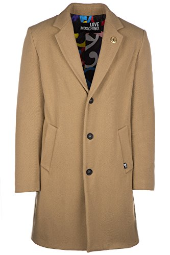 Love Moschino cappotto uomo in lana originale beige EU 48 (UK 38) M K 129 80 T 8615 E3