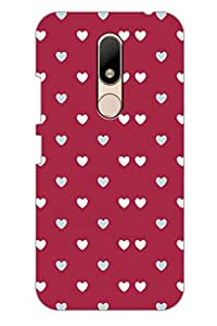 AMAN Purple Hearts 3D Back Cover for Moto M