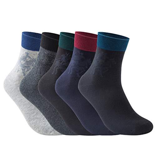 Selling Herren Sportsocken (5 Pas), Herren Deo-Socken, Herren-Low-Socken, antibakterielle und Deodorants Business Wild Cotton Socken Herrengröße
