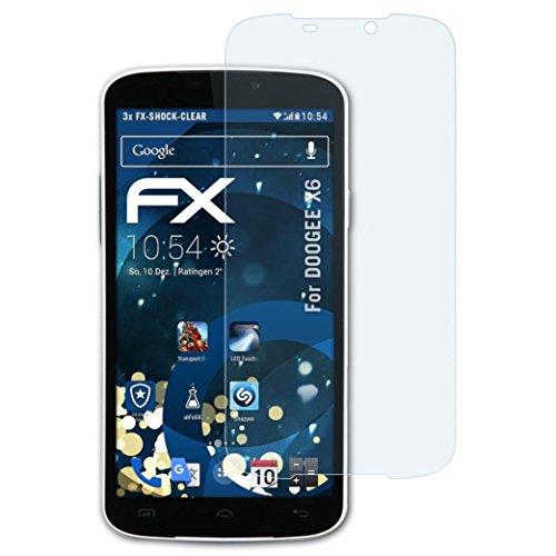 atFolix Schutzfolie kompatibel mit DOOGEE X6 Panzerfolie, ultraklare & stoßdämpfende FX Folie (3X)