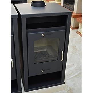 Estufa de leña para calefacción central 12/17 ke calefacción potencia integral caldera de combustible sólido chimenea