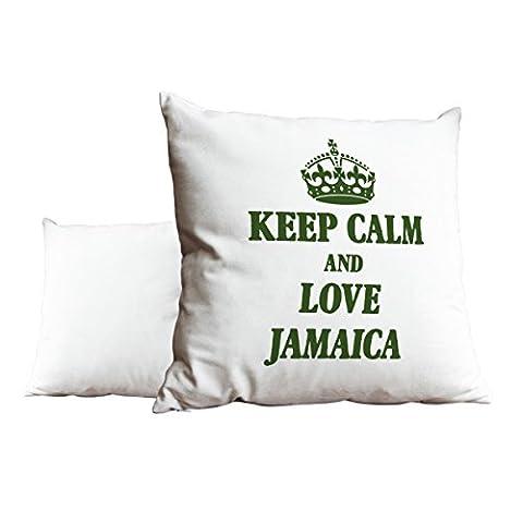 Vert Keep Calm and Love Jamaica Blanc Scatter Taie d'oreiller 1971