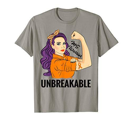 MS Multiple Sklerose Bewusstsein Warrior Awareness T-Shirt