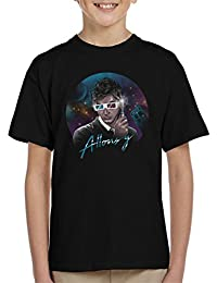 Doctor Who David Tennant Allons Y Retro Wave Kid's T-Shirt