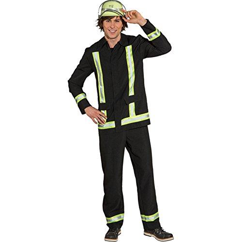 NEU Herren-Kostüm Feuerwehrmann, schwarz Gr 54-56