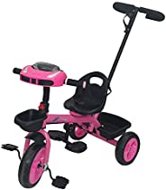 Bronco Tricycle with Handle LB-6518(Pink),100% Assembled