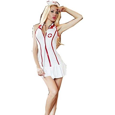 ZOYOL caliente traviesa enfermera uniforme para mujer traje disfraz de las mujeres , white , m
