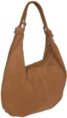 Damen Leder Schultertasche,Shopper, Beuteltasche Terracotta
