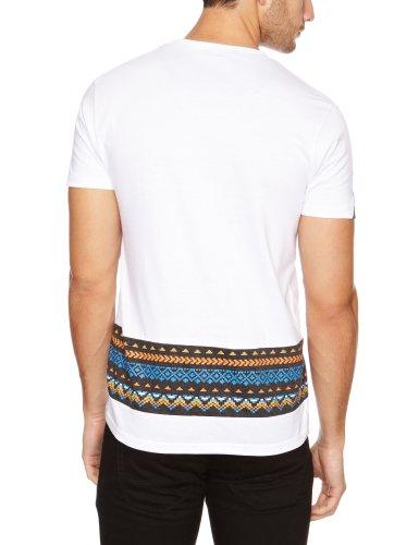 Bellfield Herren T-Shirts , Crew Weiß - White/Charcoal
