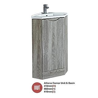 Bathroom Furniture Athena Avola Floor Standing Unit & Offset Basin (Central Handle) - 410mm(w) x 860mm(h) x 410mm (d)