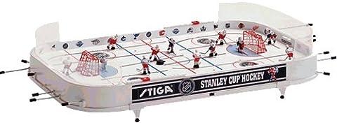Stiga Stanley Hockey sur Table Mixte Enfant, Blanc, Tabletop