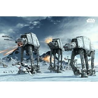 Poster Star Wars - Schlacht um Hoth mit AT-ATs auf dem Eisplaneten - Größe 61 x 91,5 cm - Maxiposter