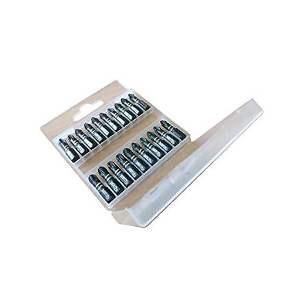 Juego de 20 brocas y puntas para destornillador de impacto SabreCut SCPB25_20 25 mm PZ2 PZ3 PH2 PoziDriv POZI de n.º 2 y n.º3 Phillips, con caja de almacenamiento incluida