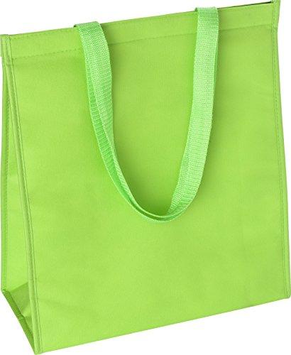 Preiswert&gut borsa termica grande borsa per la spesa 40x 36x 15cm borsa termica 82grammi sacchetto di stoffa, verde lime, 40x36x15cm