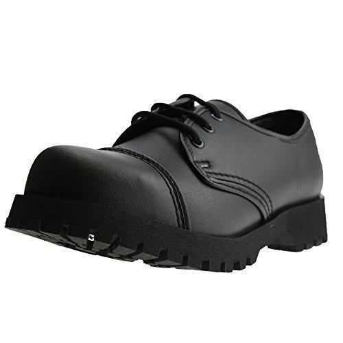 Boots & Braces - 3-Loch Vegetarian (Vegi) Schuhe Schwarz Schwarz