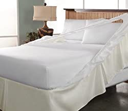Tailor Fit Easy on Easy off Bedskirt and Box Spring Protector, Twin, Khaki