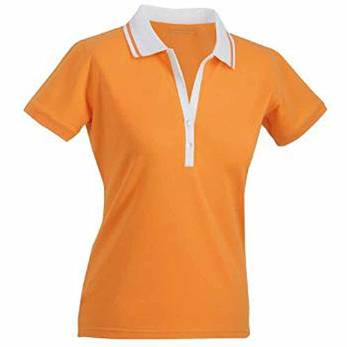 James Nicholson Damen Poloshirt & V-JN158 Kragen Orange - Orange