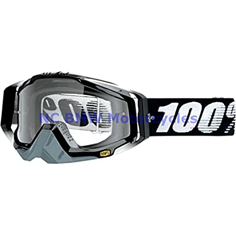 100% Motorcycle Riding Goggle Racecraft ABYSS Black Gray Clear Lens 50100-001-02 by Unknown