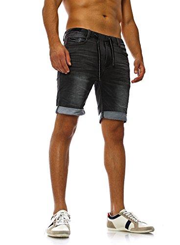 Sweat Jeans Denim Jogger Shorts Sommer Kurze Hose Sublevel 98-86 dunkelblau schwarz W30 -