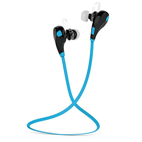 Cuffie bluetooth di naked fitness® auricolari stereo, sweatproof sport ear con microfono integrato per iphone e smart phones